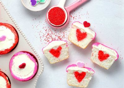 Kids Hidden Heart Valentines Cupcakes