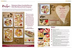 Valentines recipe in Move To magazine