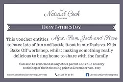 fathers day gift voucher