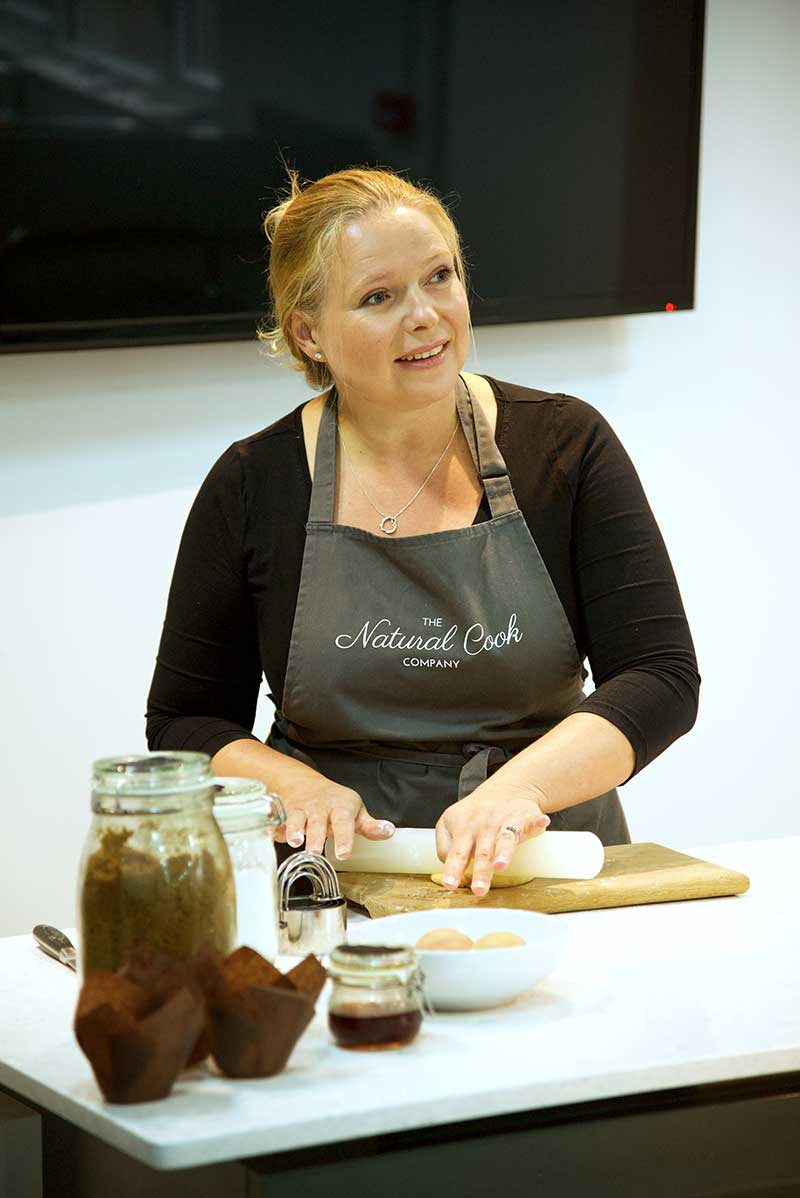 founder of the natural cook company cookery school in Hampshire